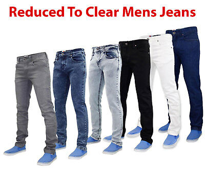 True Face Homme Coupe Slim Jeans Extensible Basique 5 Poches Occidental