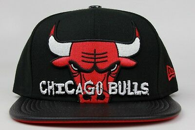 7360172c3b6304 Chicago Bulls Black Leather Jordan Retro 13 Bred New Era 9Fifty Snapback  Hat Cap