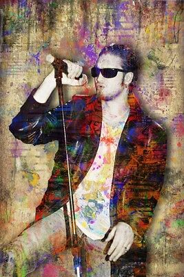 LAYNE STALEY Tribute 8x12in Poster, ALICE IN CHAINS Tribute Art Free Shipping US
