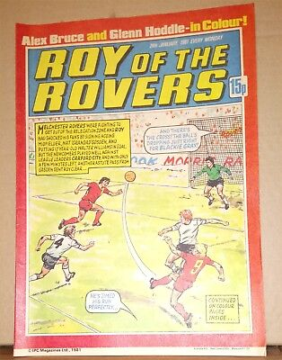Roy of the Rovers Comic in very good condition dated 24th January 1981