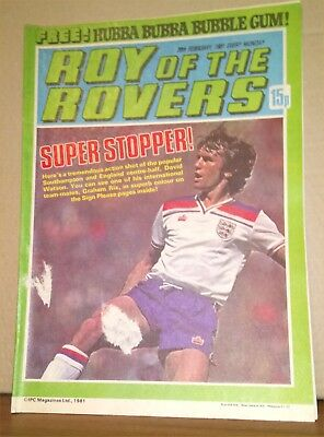 Roy of the Rovers Comic in good condition dated 28th February 1981
