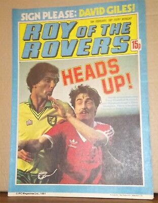 Roy of the Rovers Comic in very good condition dated 14th February 1981