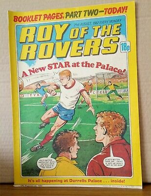 Roy of the Rovers Comic in very good condition dated 21st August 1982