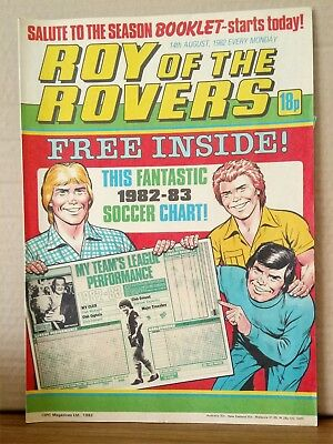 Roy of the Rovers Comic in very good condition dated 14th August 1982