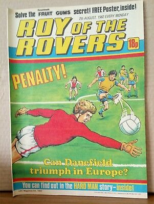 Roy of the Rovers Comic in very good condition dated 7th August 1982