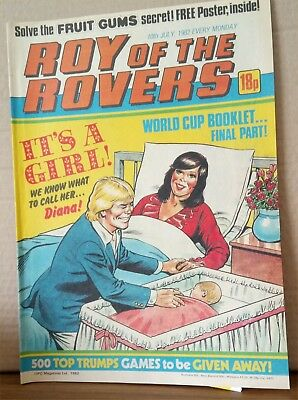 Roy of the Rovers Comic in very good condition dated 10th July 1982