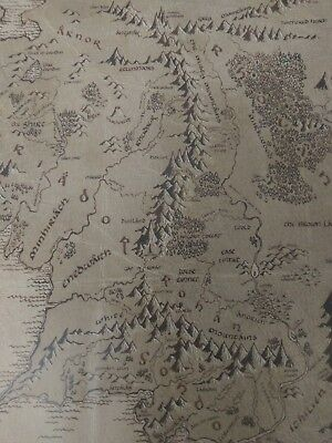 Map Of Middle Earth, Lord Of The Rings Movie Poster - Size A2