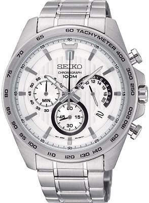 SEIKO SSB297P1 Chronograph All Stainless Steel 100M Gents 2 Year Guar RRP £199.