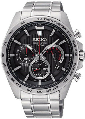 SEIKO SSB299P1 Chronograph All Stainless Steel 100M Gents 2 Year Guar RRP £199.