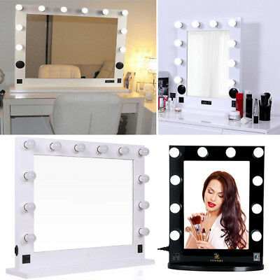 Lighted Hollywood Makeup Vanity Mirror Salon Stage Hair Dressing Mirror US Plug