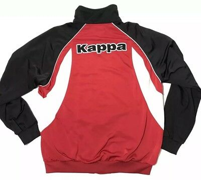 af5c8947 MENS VTG VINTAGE Red Kappa Zip Up Track Jacket L Large Spell Out
