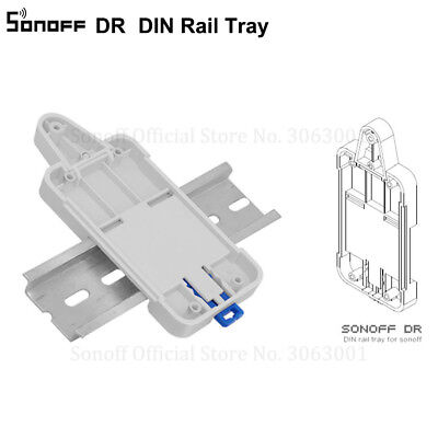 Sonoff DR DIN Rail Tray Adjustable Mounted Rail Case Holder Solution for Mount