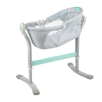 Summer Infant By Your Side Sleeper - Grey & Teal Stripe - Clearance