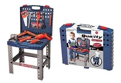Childrens Work Bench Kids Play Set With Tools Diy Tool Kit Construction Toy