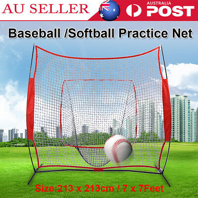 7' x 7' Baseball Training Net Softball Pitching Batting Throwing Practice Tool
