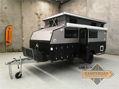 Brand New Camperoad 15ft Hybrid Off Road Caravan Pop Top Camper Ensuite