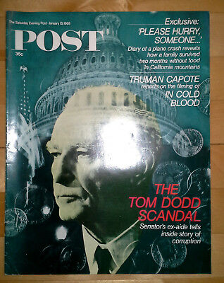 Old Issue of SATURDAY EVENING POST MAGAZINE, 13 Jan 1968. Great Advertisments!