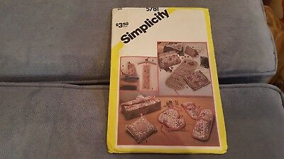 Vintage 1982 Simplicity Pattern 5781 Feminine Accessories UC FF