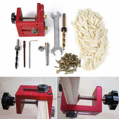 Pocket Hole Drill Guide Dowel Jig Woodworking Joinery Carpentry Tool kit