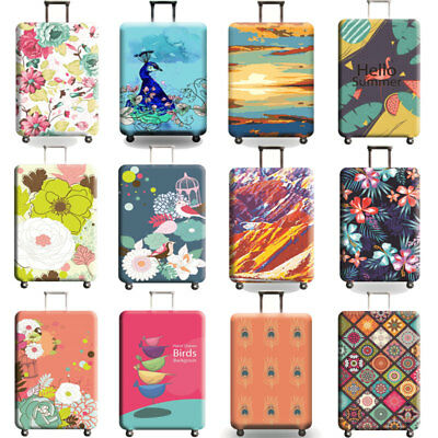 """Elastic Travel Luggage Cover Suitcase Protector Bag Dustproof S/M/L/XL 18"""" - 32"""""""