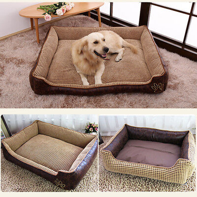 Holapet® Winter Warm Bed For Small Large Dogs Cozy Reversible Pet Cat/Big Dog