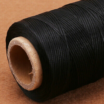 BLACK 260m Yards Waxed Line Jewelry Leather Sewing Thread Stitching Cord Craft