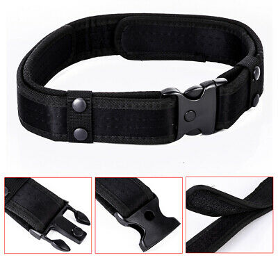 2Inch Outdoor Utility Tactical Police Security Combat Gear Nylon Duty Belt Black