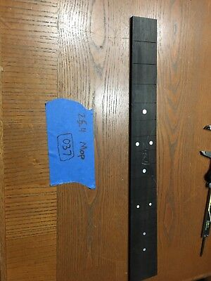 Ebony Guitar Fingerboard MOP 25.4 Luthier Parts Luthier Supply Inlay Slotted