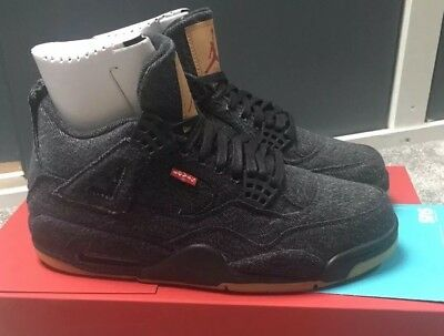 fe26b6d568cf GENUINE NIKE RETRO Air Jordan 4 x Levis NRG Black Size UK 7 US 8 EU ...