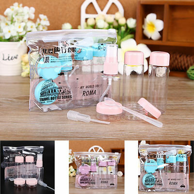 7Pcs/set Mini Travel Plastic Transparent Empty Make Up Container Bottle Kit