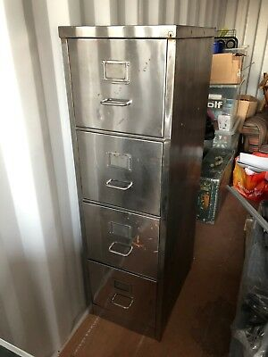 Stripped - Polished - Vintage Metal Filing Cabinet - Retro - Vintage Industrial