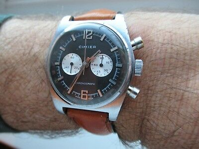 Vintage Cimier Chronograph from the late 1950s/60s full service hand made strap