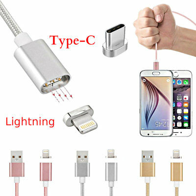 Magnetic Fast Charging Braided Cable Lightning &Type C Lead For iPhone Samsung1+
