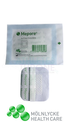 Mepore Self-Adhesive First Aid Dressings Skin Sterile Cuts Wounds 6 x 7cm (X10)