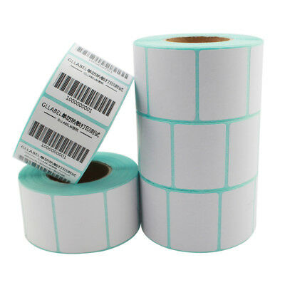 1100Pcs 30x20mm Blank White Thermal Labels Rolls Self Adhensive Sticker