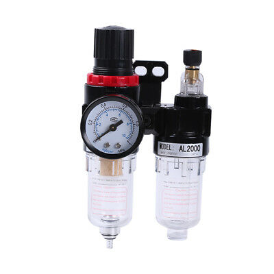 Air Compressor Oil Water Separator Regulator Trap Filter Airbrush Treatment