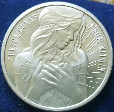 2018 2oz Silver Shield Peace Comes From Within Silver Round Coin w//COA