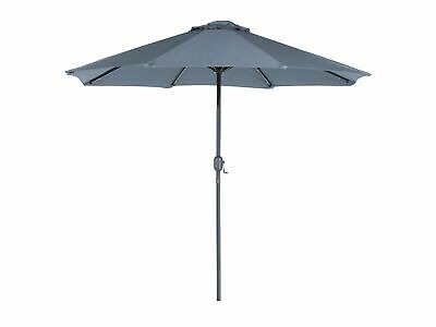 89724fdcb14 Modern Outdoor Garden Market Parasol Dark Grey Polyester Canopy LED Lights  Rapal