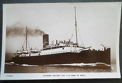 tss Maid Of Kent . Southern Railway Co 1920's Cross Channel Ferry Boat Ship Tour