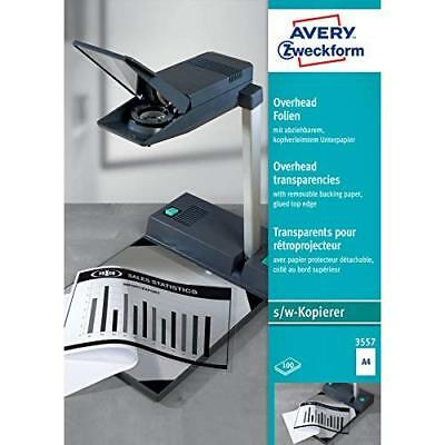 Avery Zweckform 3557 Overhead Transparencies DIN A4 with Special Coating and Rem