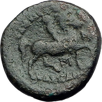 KASSANDER killer of Alexander the Great's FAMILY Ancient Greek Coin Horse i62751