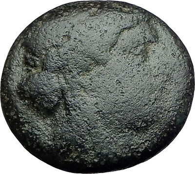 SMYRNA in IONIA - Poet Homer of Odyssey on Authentic Ancient Greek Coin i63091