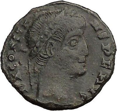 Constans Emperor Constantine the Great son Roman Coin Glory of Army i36363