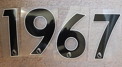 Premier League Football Shorts Numbers Epl Black Iron On - Adult Size For Shorts