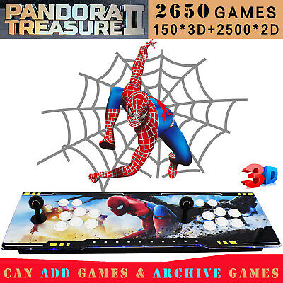 2200 Games Arcade Console Machine Retro Video Game Pandora Treasure 3D HDMI 1080