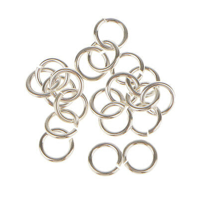 20packs 925 Sterling Silver Open Jump Ring DIY Connector Charms Jewelry 4mm