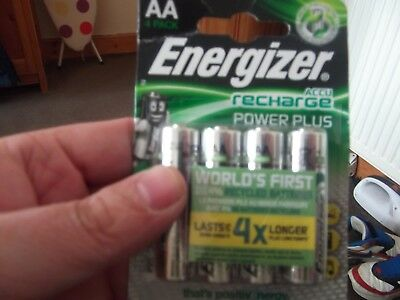 Energizer Pre Charged Power Plus AA Rechargeable Batteries NiMH 2000mah 4 pack
