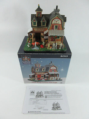 Lemax Glad Wags School for Dogs Carole Towne Collection Lights Up House