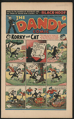 Dandy Comic #367, Apr 10Th 1948, Scarce Post War Issue, Smaller Size