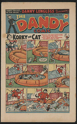Dandy Comic #372, June 19Th 1948, Scarce Post War Issue, Smaller Size